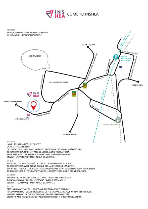 INSHEA instructions and access map (.pdf, 128,98 Ko)